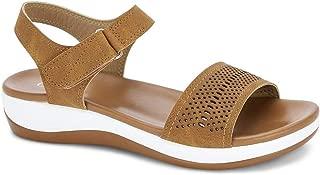 Ceriz Women's Camel Casual Fashion Sandals