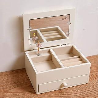 JJZXD Wooden Music Box Ballerina Music Box Gift Birthday Gift Girl Girlfriend Ballet Jewelry Box