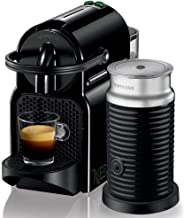 Nespresso Inissia Coffee Machine W/ Aeroccino 3 Milk Frother, D40BU-BK (700 ml)