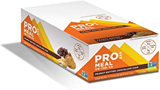 PROBAR - Meal Bar, Peanut Butter Chocolate Chip, Non-GMO, Gluten-Free, Certified Organic, Healthy, Plant-Based Whole Food Ingredients, Natural Energy (12 Count)