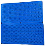 Pegboard Rack Wall Control Steel Pegboard Pack Blue Peg Boards - Two 32-Inch x...