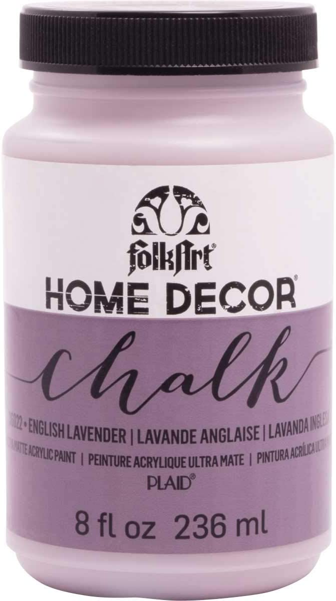 FolkArt 36022 Home Decor Chalk Furniture & Craft Paint in Assorted Colors, 8 ounce, English Lavender
