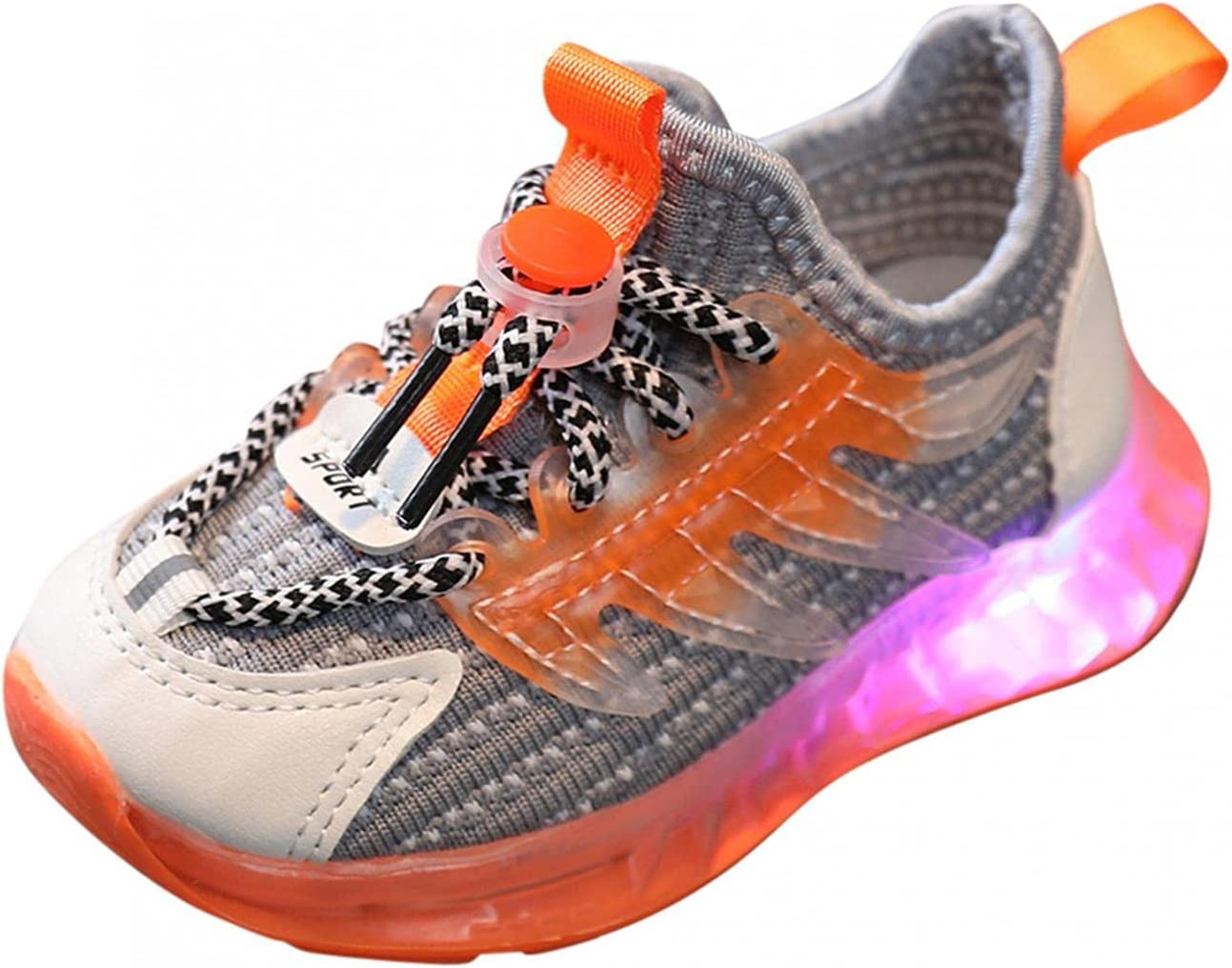 Children Limited time cheap sale Max 86% OFF LED Sport Shoes Baby Luminous Girls Boys Running Light