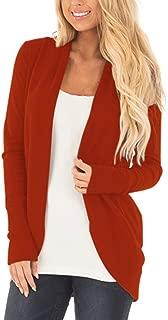 Womens Classic Long Sleeve Knitwear Open Front Cardigan Sweater
