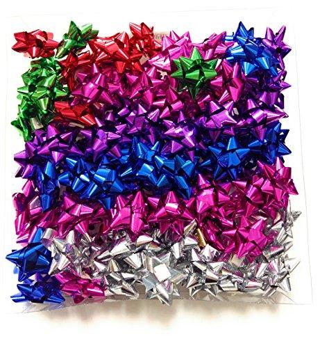100 Stelle Adesive Per Confezioni Regalo Metallizzate