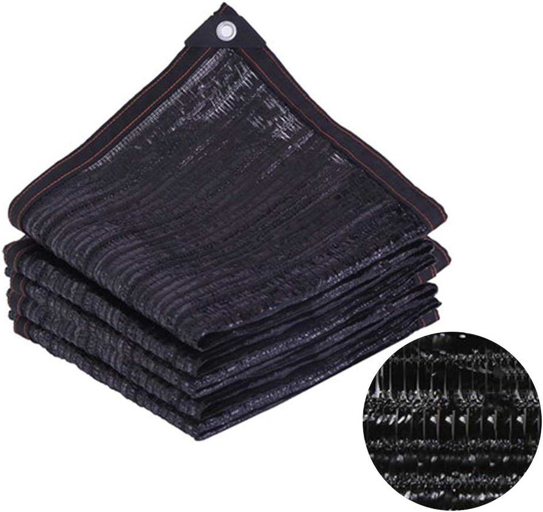 XIAOXIAO PE Material 95% Shelter Net Windbreak Shade NetGreenhouse Roller Blinds Screen Sunscreen Net Shade Fence Garden Experts,Black