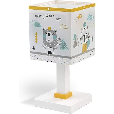 Dalber lampe de table enfant Hello Little Animaux, Blanc