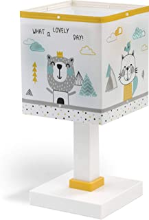Dalber Hello Little Lámpara infantil de Mesilla Animales, Multicolor