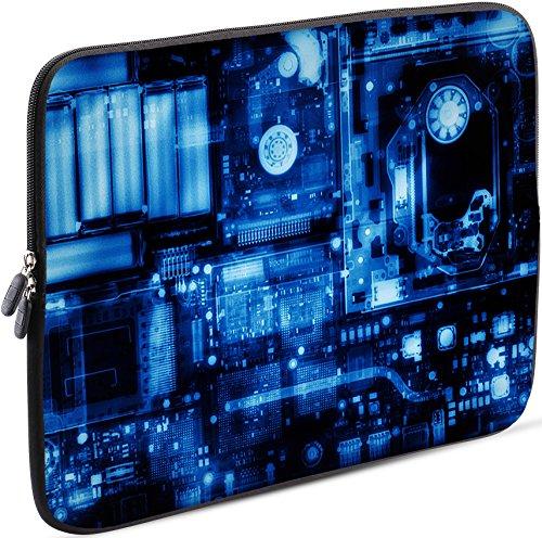 Sidorenko Laptop Tasche für 17-17,3 Zoll - Universal Notebooktasche Schutzhülle - Laptoptasche aus Neopren, PC Computer Hülle Sleeve Case Etui, Blau