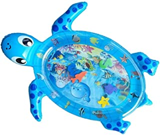 SYXX Tiempo de la panza estera de agua, respetuoso del medio ambiente Espesar inflable tortuga de agua cojín, vida marina Pat Pad, cognitiva Pad, Baby Toy Pop Pad, Perfect Entertainment juguete for be