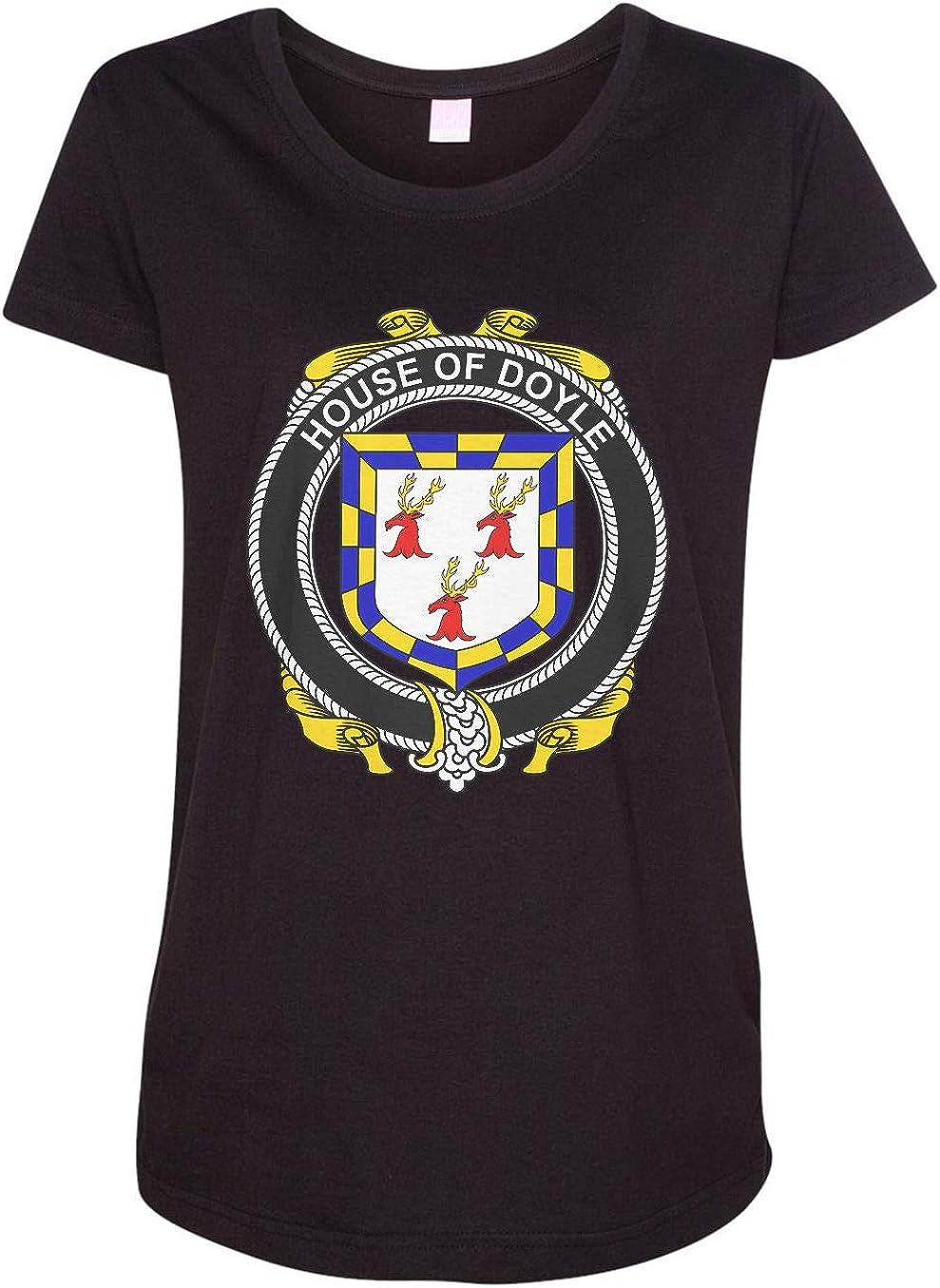 HARD EDGE DESIGN Women's Irish House Heraldry Doyle T-Shirt
