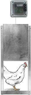 Automatic Chicken Coop Door Opener + Door - Light Sensing - Indoor/Outdoor - Battery Powered (6 Months) (Pack of 1)