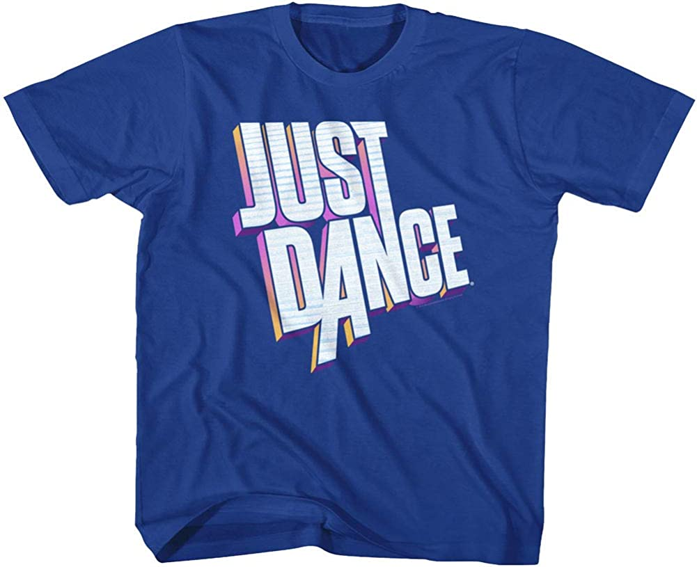 Just Dance Rhythm Game Series 3 Dimensional Block Logo Youth T-Shirt Tee
