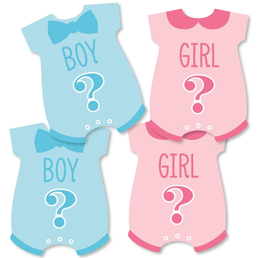 Gender Reveal - Baby Bodysuit Baby Shower Decorations DIY Party Essentials - Set of 20