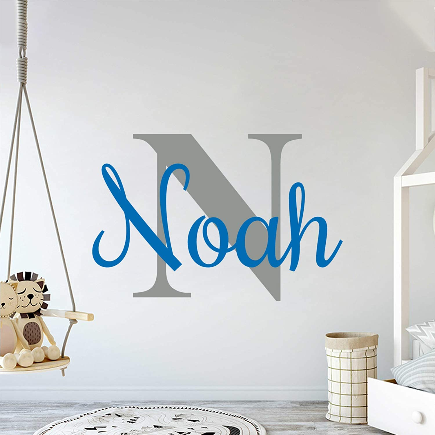 Multiple Font 70% OFF Outlet Custom Name Initial Nursery Outlet sale feature W Decal - Wall Mural