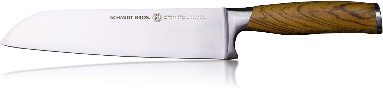 Schmidt Bredhers - Zebra Wood 7.5  Santoku Knife, High-Carbon German Stainless Steel Cutlery
