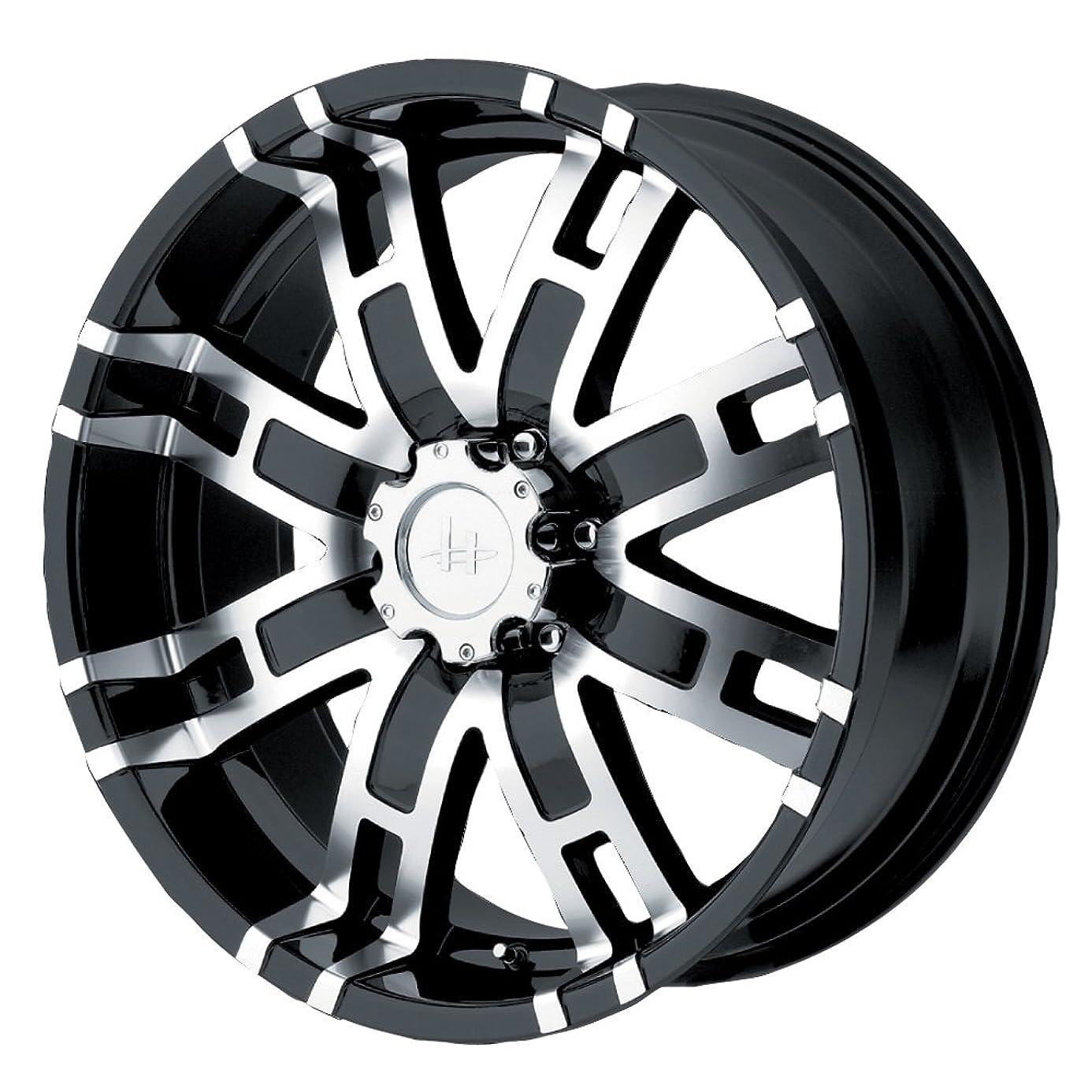 Helo HE835 Gloss Black Machined Wheel - (18x9