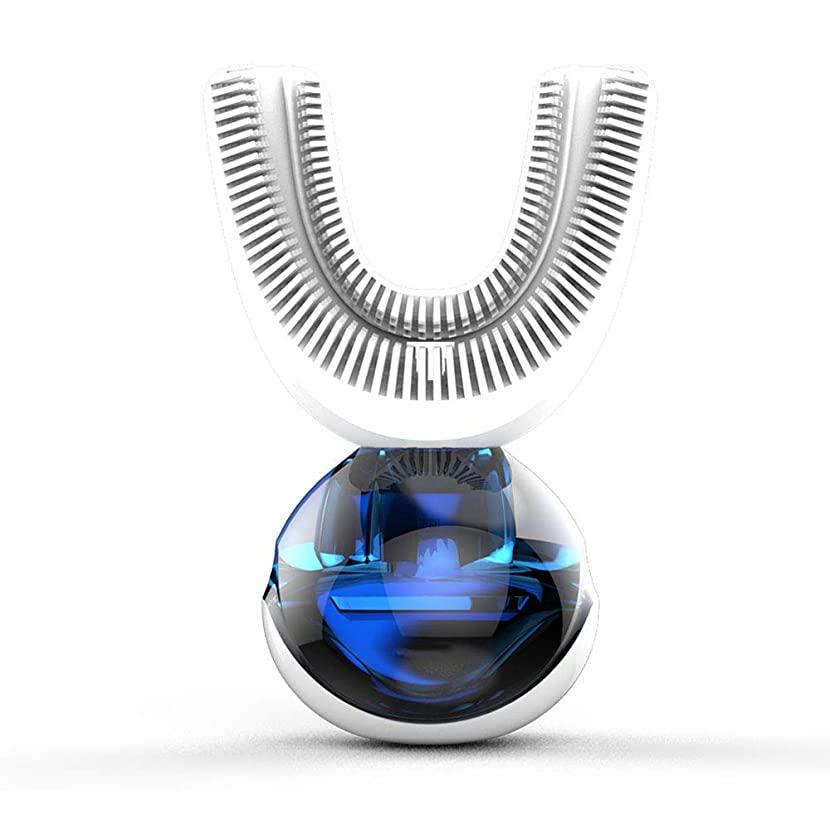 説得タンパク質受信機ワイヤレス充電式超音波電動歯ブラシ、大人の家庭用ポータブル自動ソフト歯ブラシ