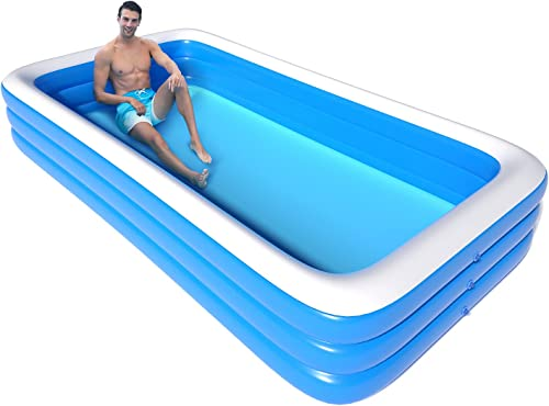 """lowest Inflatable Swimming new arrival Pool, FoldBubble 165"""" X 78"""" X 23"""" Above Ground Blow Up Pool for Family Kids Toddlers and Adults,Kiddie Pools for lowest Outdoor Backyard Garden Summer sale"""