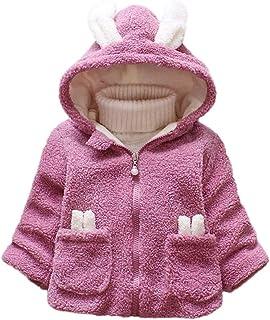acabe9960 WARMSHOP Infant Baby Boys Girls Fall Winter Warm Coat Jacket Outwear Solid  Cartoon Rabbit Faux Fur