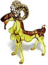 Miniature Dollhouse Animals Goat Figurines Glass Blown Toy Zoo Kid