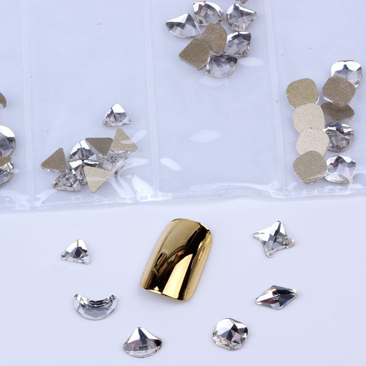 知覚栄光の薬局混在6形60pcs / bagガラスネイルアートラインストーンフラットバックネイルステッカーDIYクラフトアート3Dジュエリー衣類装飾宝石