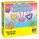 Creativity for Kids Butterfly Necklaces - Children's Jewelry Making Craft Kit - Makes 6 Necklaces