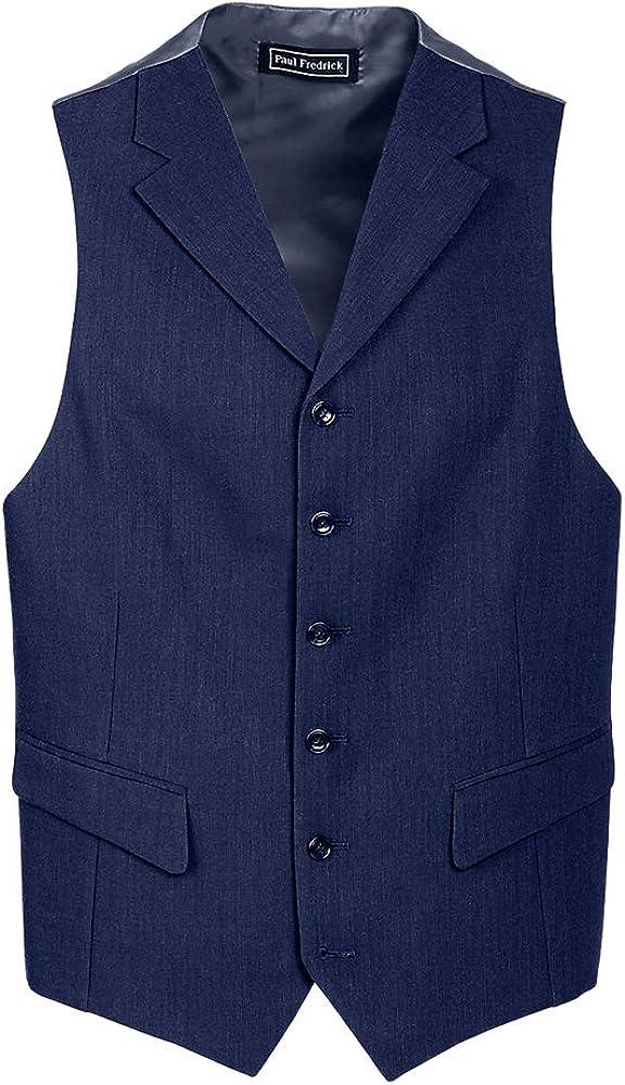 Paul Fredrick Men's Classic Fit Essential Wool Suit Vest