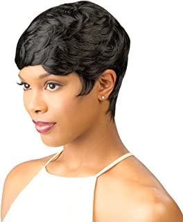 Short Curly Wigs for Black Women Pixie Cut Wig Short Sexy Wigs Curly Synthetic Hair wigs Full Wig Natural Women's Fashion Party Wigs Cosplay(Black)