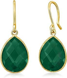 silver onyx earrngs petite teardrop earrings cabachon green onyx earrings green onyx earrings bezel set onyx earrings onxy earrings