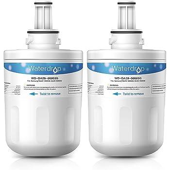 DA97-06317A 2 WaterDrop DA29-00003G Sostituzione Cartuccia Filtro Acqua Frigorifero per Samsung Aqua Pure Plus DA29-00003G WSS-1 DA29-00003B APP100//1 WF289 HAFIN2//EXP HAFCU1//XAA DA29-00003A