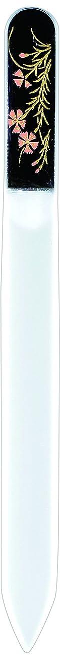 モード寂しいシガレット橋本漆芸 ブラジェク製高級爪ヤスリ 八月 撫子 紙箱