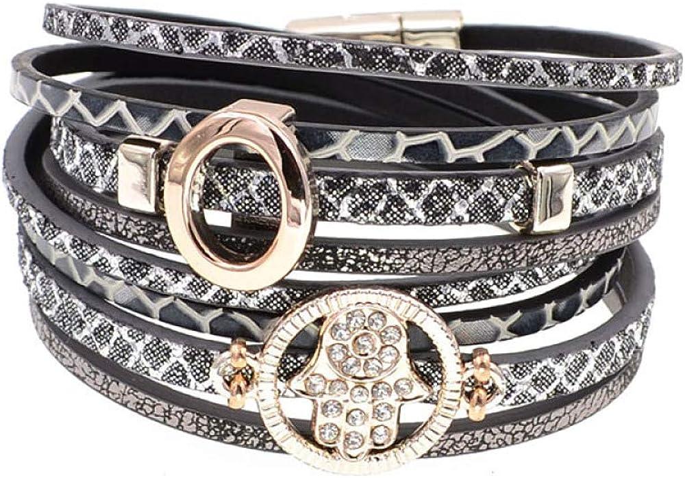 Fashion Leather Bracelet Wrap Bracelets Women Bohemia Trendy Seasonal Introduction For Shipping included