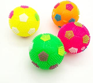 Balls Novelty Light-up and Sound Soccer Toys for Kids and Toddlers,Luninous Soccer Bouncing Flashing Party Favor for Children Babies Gift - 1pcs