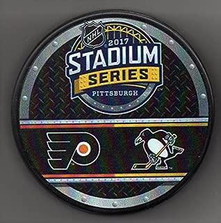 2017 Stadium Series Pittsburgh Penguins Philadelphia Flyers Heinz Field NHL Hockey Puck + FREE Cube