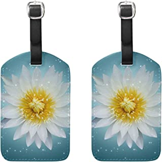 MASSIKOA Lotus Cruise Luggage Tags Suitcase Labels Bag,2 Pack