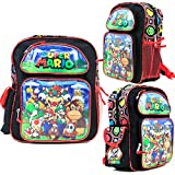 Disney Super Mario Kids 12 Inch Toddler School Backpack Canvas Book Bag New
