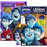 Disney Onward Coloring Books Set Onward Activity Book Bundle - 2 Pack Onward Coloring Book with Onward Stickers, and Onward Posters (Onward Party Supplies)