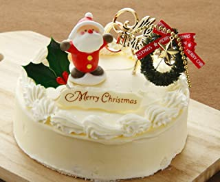 ロリアン洋菓子店 クリスマスケーキ限定レトロなバタークリームケーキ 5号 直径15センチ(お届けは12/15から12/27日まで)