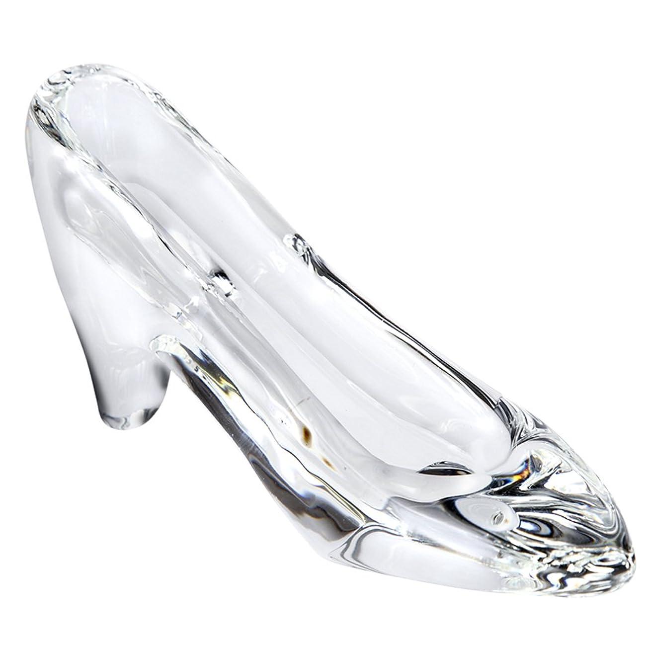トランザクション表面的な担当者【Amazon.co.jp 限定】 TEATSIGHT ガラスの靴 ガラス製 透明 H 6.5cm D 13cm W 4cm ハイヒールS