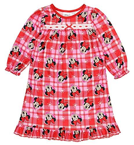 Minnie-Maus-Nachthemd für kleine Mädchen, Rot (3T)