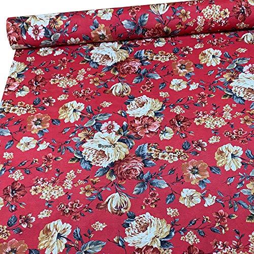 Tela de tela de algodón al metro tela decorativa gran foulard sofá colcha cubre sofá foulard ligero corte 270 x 280 multiusos cubretodo tela Metraggio Granfoulard Foulard Sofá tapicería cortinas