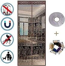 WJSW Imanes de Pantalla Puerta mosquitera, Cortinas magnéticas, mosquiteras dispersas, Varios tamaños, instalación fácil, no Requiere perforación, 120 × 210 cm