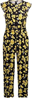 Michael Kors Woman's Jumpsuit with Yellow Floral Print
