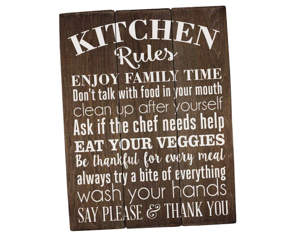 Rummy Plaque en Bois 17 x 17 cm Sincerely Sunshine Kitchen Rules