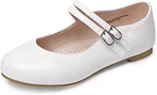 MIXIN Girls Mary Jane Shoes School Uniform Dress Shoes Princess Ballerina Teen Girls Flat for Wedding(Little/Big Kid)