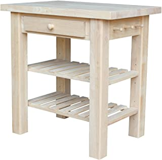 International Concepts WC-3624 Kitchen Island, Unfinished