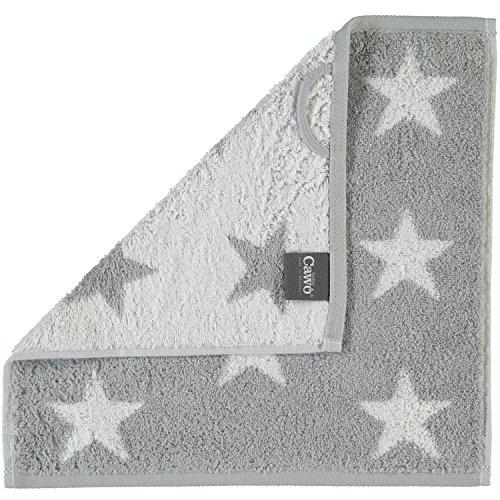 Cawö Small Stars Handtuch-Serie, Silver, Größe Frottee:Waschlappen 30 x 30 cm