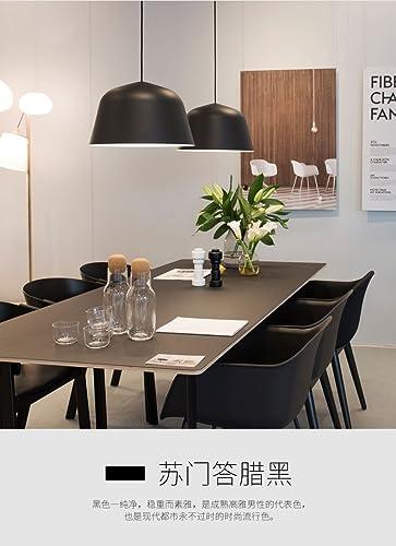 Suspension lustre Lumière pendentife en aluminium moderne de salon de style européen, noir, diamètre 40Cm