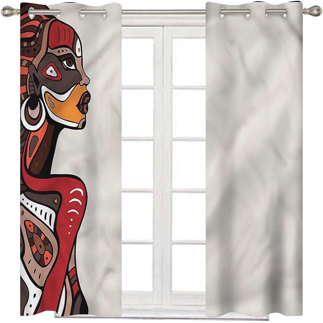 African Kids Blackout Curtains 72 Fashio Popular standard Genuine Inch Ethno Long